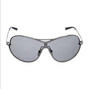 Silver metallic Valentino aviator sunglasses